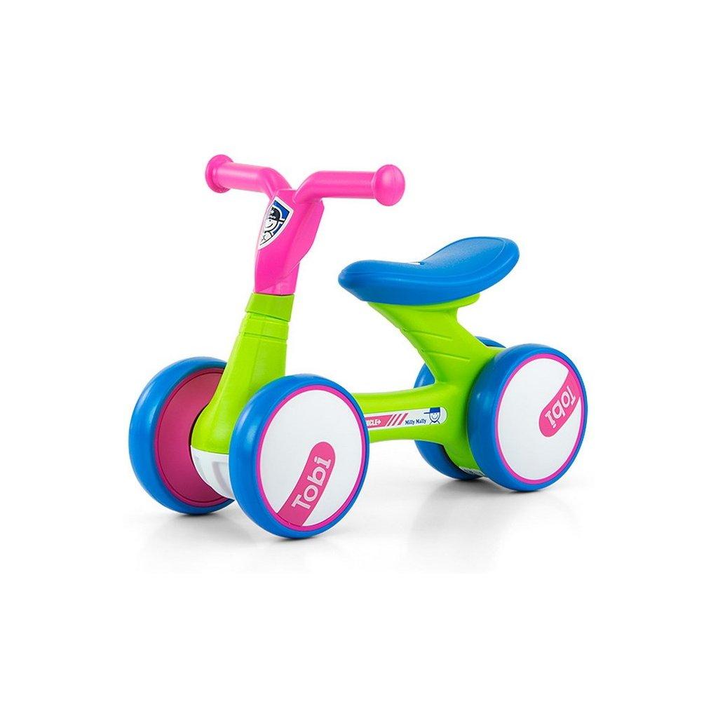 Detské odrážadlo Milly Mally Tobi pink-green