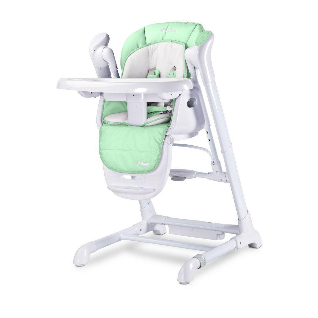 detska jedálenska stolička, detska hojdačka zelena