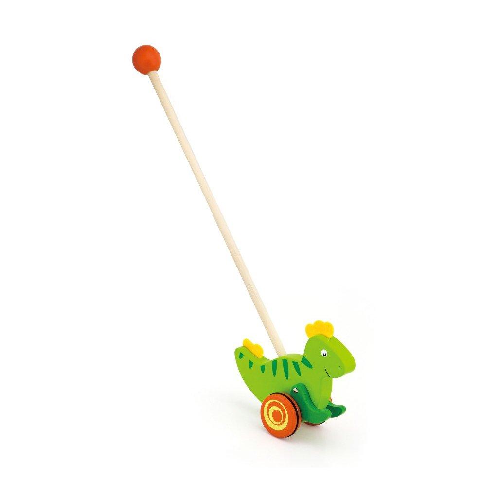 Drevena jazdiaca hracka Viga dinosaurus