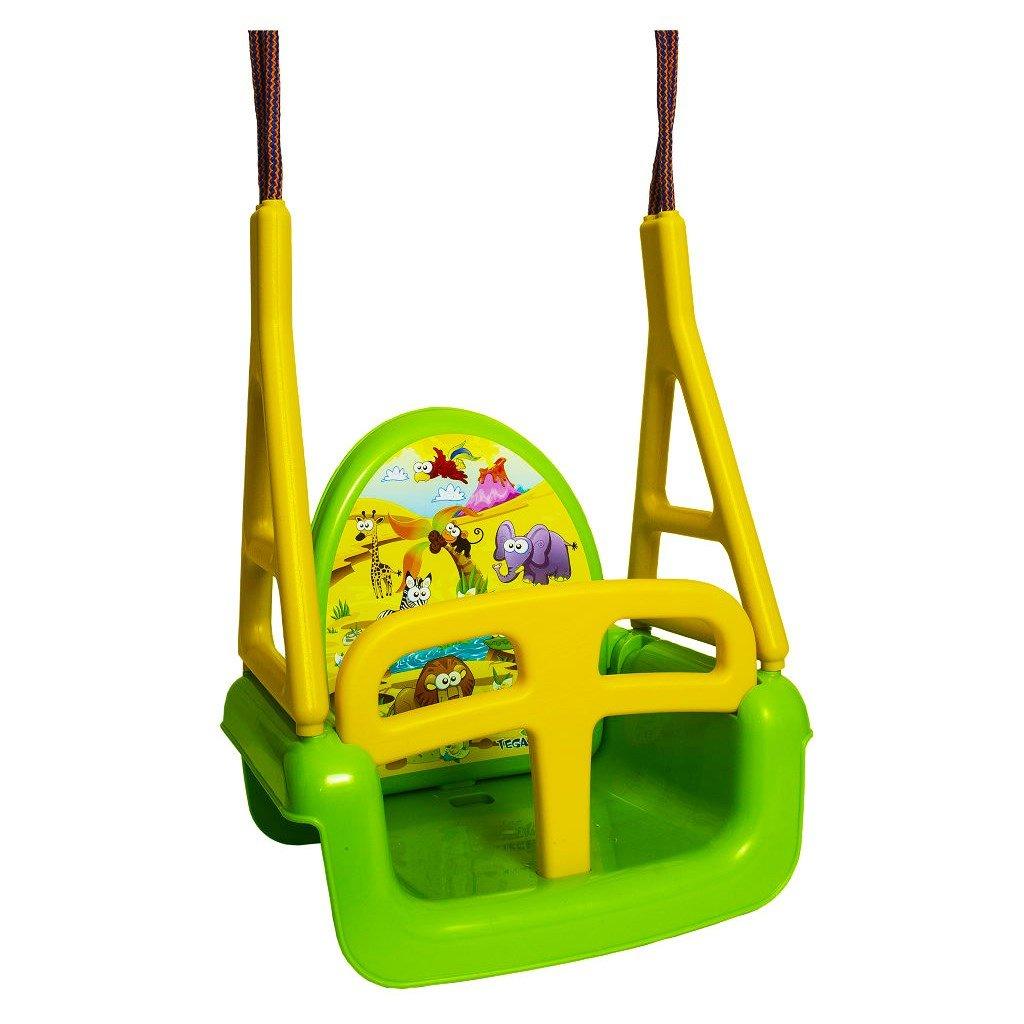 Detska hojdacka 3v1 safari Swing green