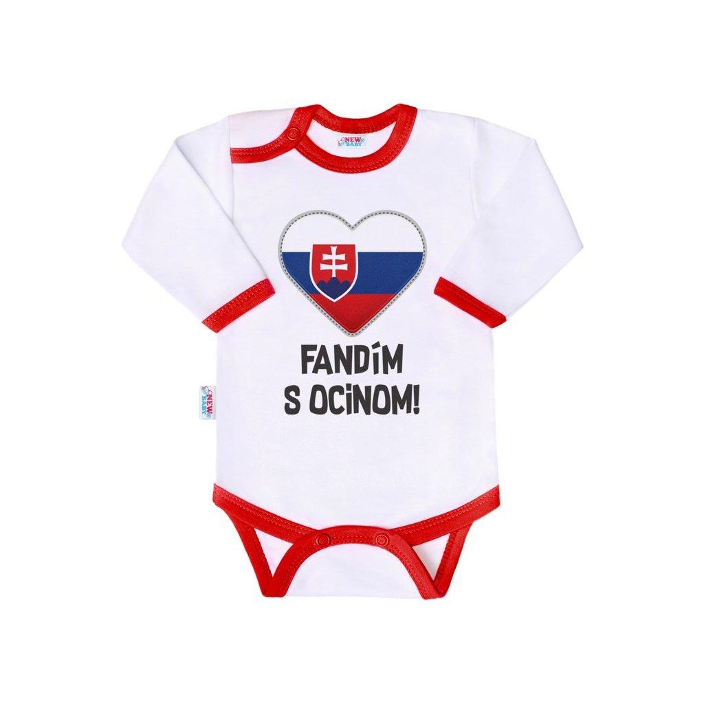 Body s potlačou New Baby Fandím s ocinom