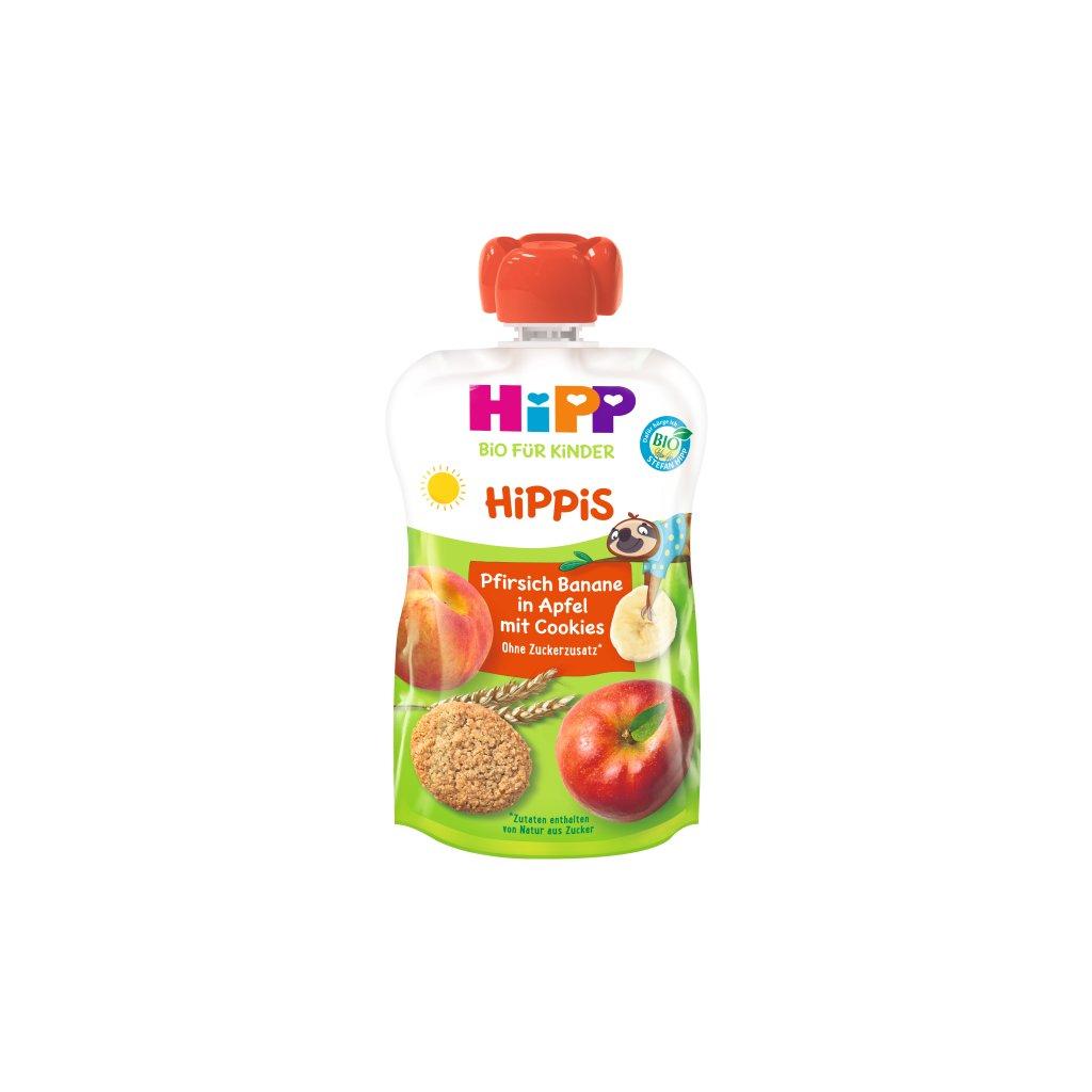 Kapsička BIO Hippies jablko-broskyňa 12m+ 100g Hipp