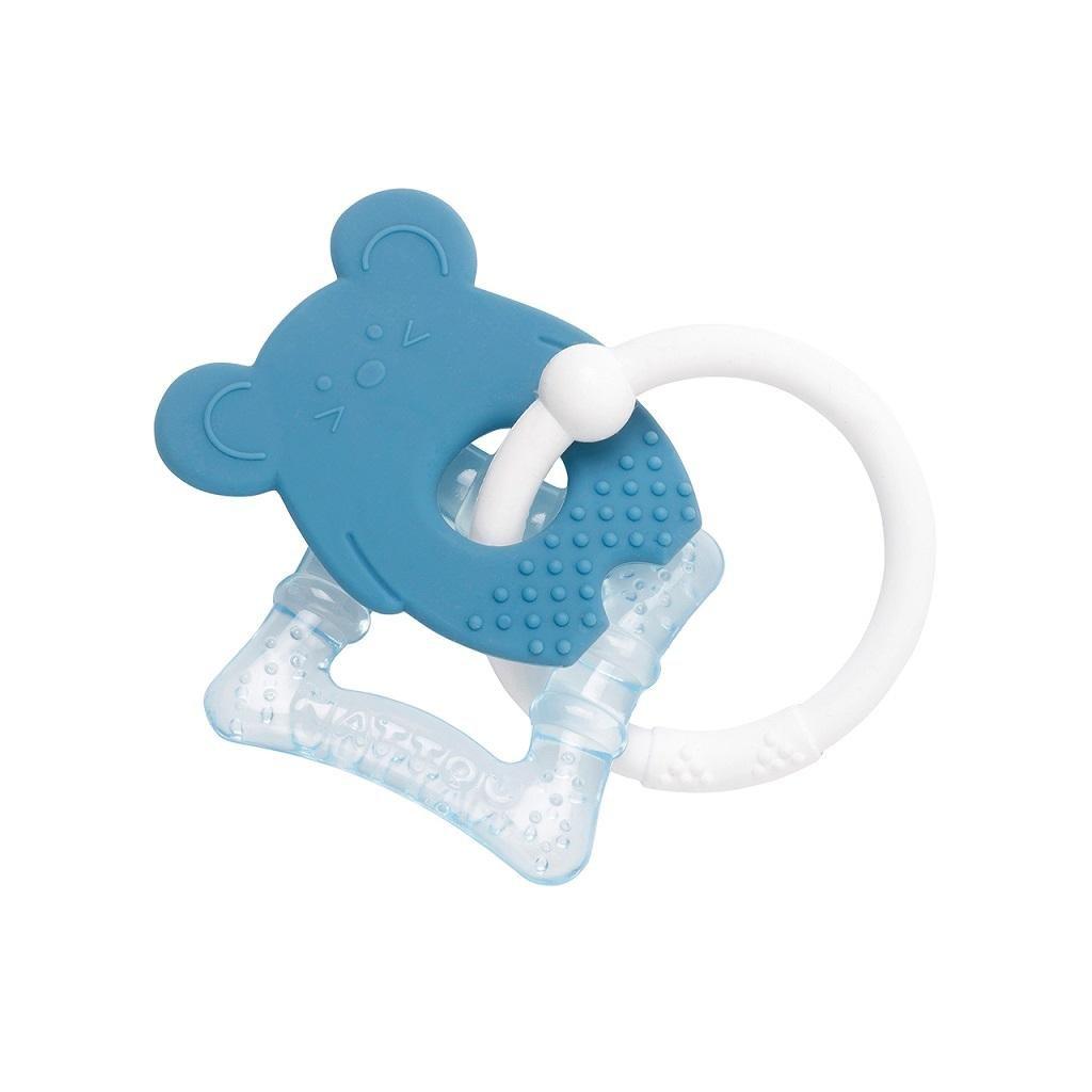 NATTOU Hryzačka silikónová s chladiacou časťou bez BPA modrá myška