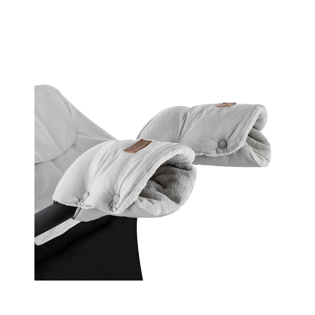 PETITE&MARS Rukávnik / rukavice Jasie na kočík Steel Grey