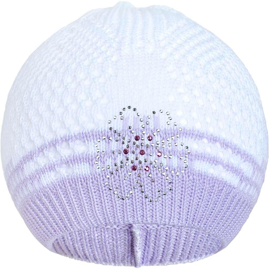 Pletená čiapočka New Baby kytička