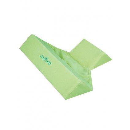 Semišková trojhranná opierka Womar zelená