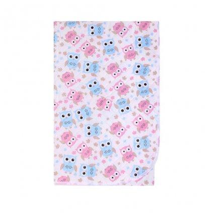 Prebaľovacia podložka Akuku 55x70 sovy ružovo-modré