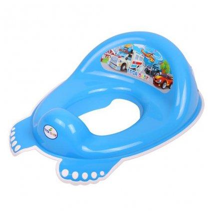Detské protišmykové sedátko na WC Autíčka modré