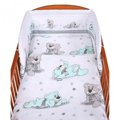 2-dielne posteľné obliečky New Baby 100/135 cm sivý medvedík