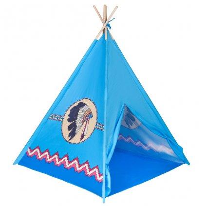 Detsky indiansky stan teepee PlayTo modry