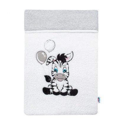 detská deka New Baby biela so zebrou