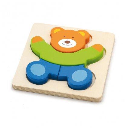 Drevené puzzle pre najmenších Viga Medvedík