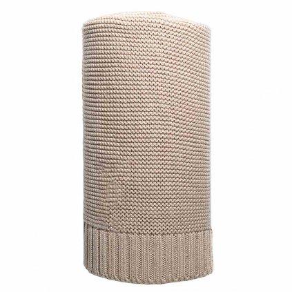 Bambusová pletená deka NEW BABY 100x80 cm béžová