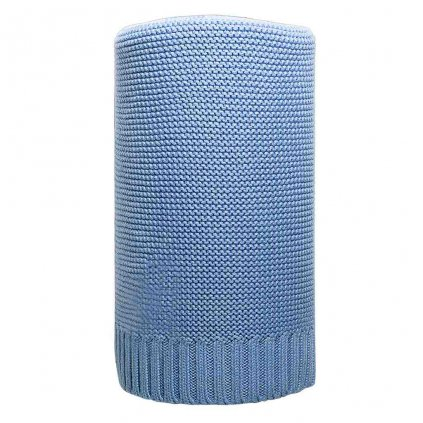 pletená detská deka New baby modrá