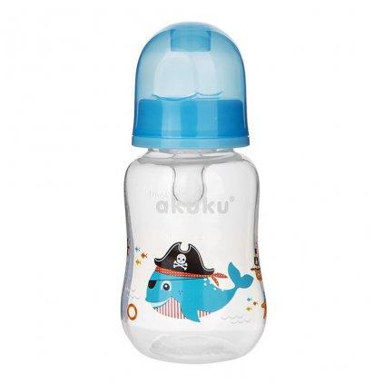 Fľaša s obrázkom Akuku 125 ml veľryba modrá
