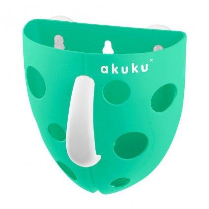 Plastový box na hračky do vane Akuku mätový