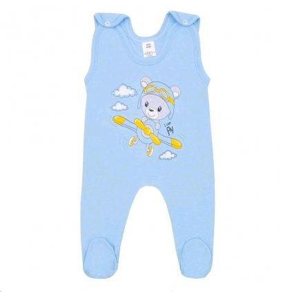 Dojčenské dupačky New Baby Teddy pilot modré