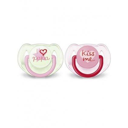 Dojčenský cumlík Avent 6-18 mesiacov - 2ks ružový