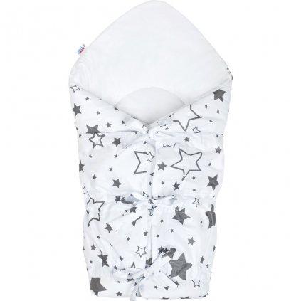 klasicka snurovacia zavinovacka new baby biela sivé hviezdy