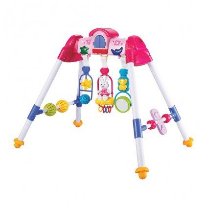 Detská hrajúca edukačná hrazdička BAYO premium pink