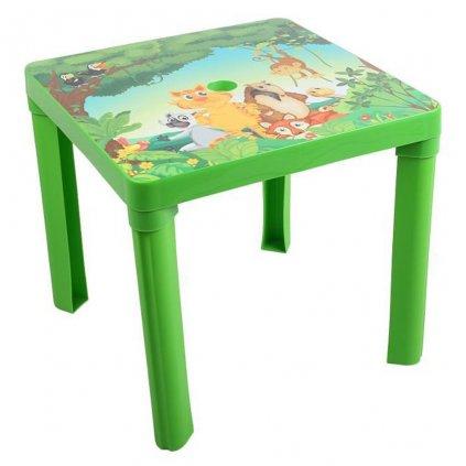Detsky zahradny nabytok - Plastovy stol zeleny