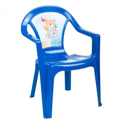Detsky zahradny nabytok - Plastova stolicka modra