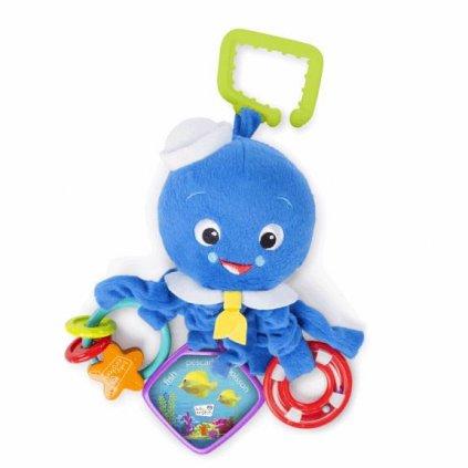 DISNEY BABY Hračka aktívna chobotnička na C krúžku Octopus™ 0m+