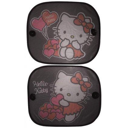 Tienidlo na okno auta 2 ks Hello Kitty