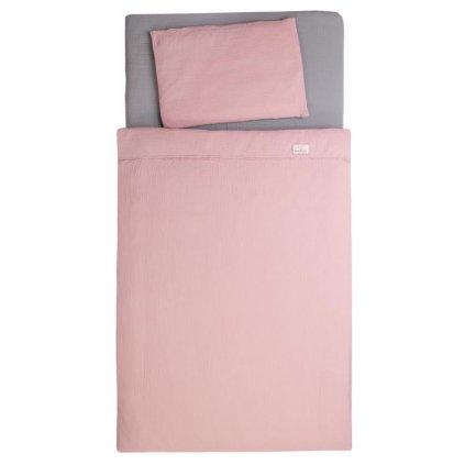 BABYMATEX Bielizeň posteľná Muslin Staroružová 3-dielna