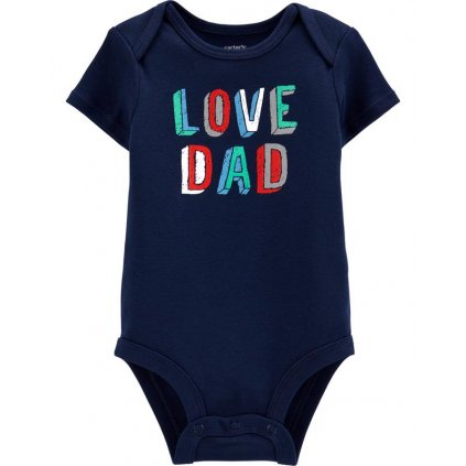 CARTER'S Body krátky rukáv Love Dad chlapec