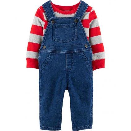 CARTER'S Set 2dielny mikina, nohavice na traky Strips chlapec
