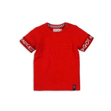 DIRKJE Tričko krátky rukáv C-SO FAST READY SET GO ! 68 Red