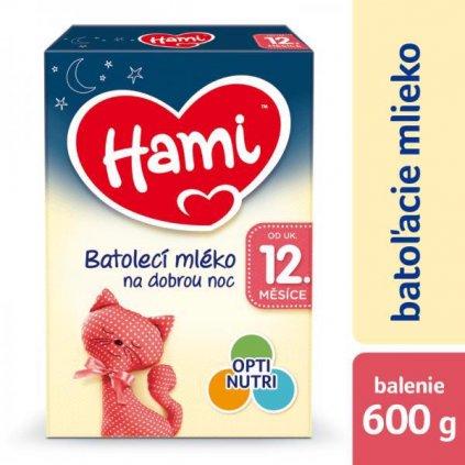 Mlieko dojčenské HAMI 12+ Na dobrú noc 600g