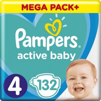 Plienky Active Baby 4 MAXI 9-14kg 132ks Pampers