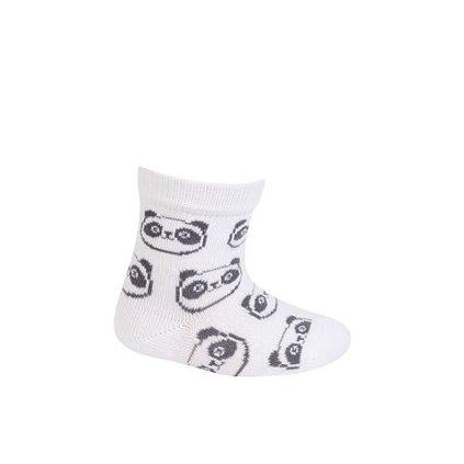 WOLA Ponožky dojčenské bavlnené neutrál Panda White