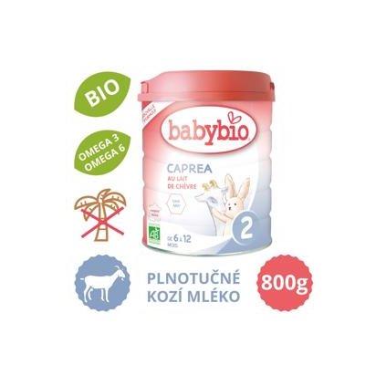 BABYBIO caprea 2 plnotučné kozie dojčenské bio mlieko (800 g)