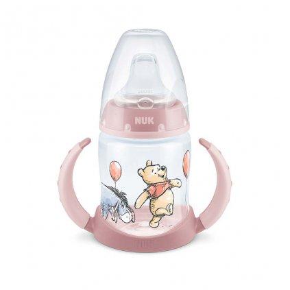 Dojčenská fľaša na učenie NUK 150 ml Disney Medvedík Pú ružová