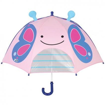 SKIP HOP Zoo dáždnik s okienkom na výhľad Motýľ 3+