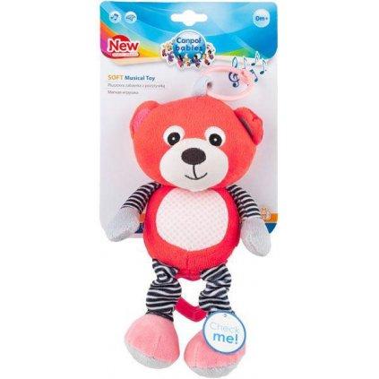 CANPOL BABIES Plyšová hracia skrinka Medvedíky červená