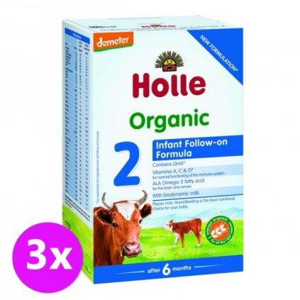 3 x HOLLE Bio Detská mliečna výživa 2 pokračovacia