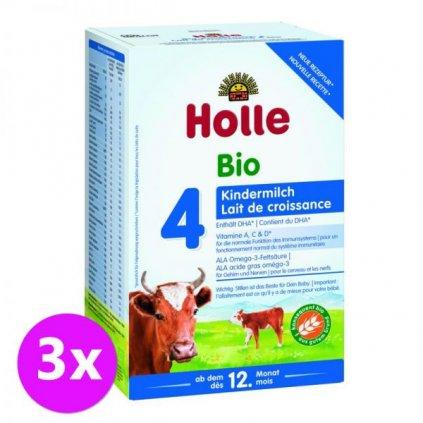 3 x HOLLE Bio Detská mliečna výživa 4 pokračovacia