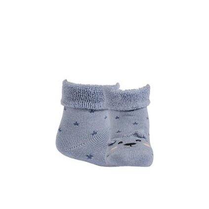 WOLA Ponožky dojčenské froté s uškami chlapec Blue 15-17