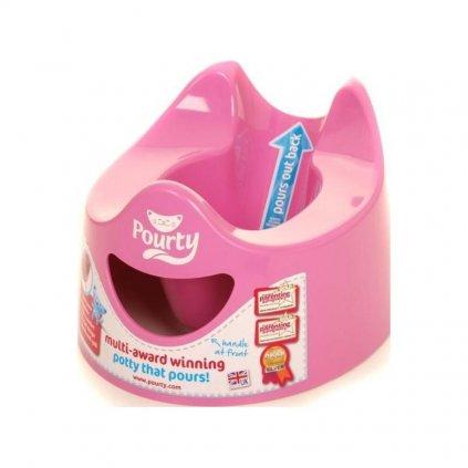 POURTY Nočník jednoducho vylievateľný Pink