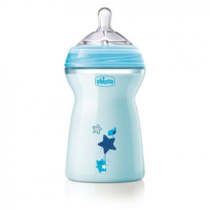 CHICCO Fľaša dojčenská Natural Feeling 330 ml, chlapec 6m+