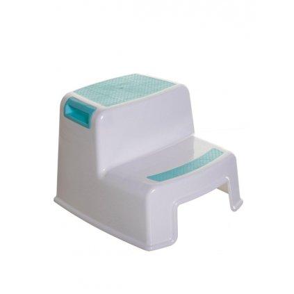DREAMBABY Stupienok dvojposchodový Aqua/White