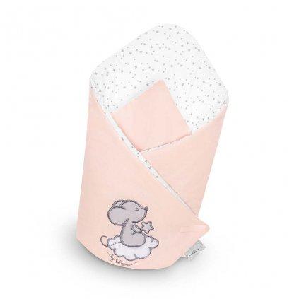 detská zavinovačka Belisima ružová s myškou