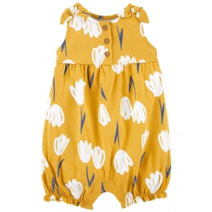 CARTER'S Overal bez rukávov Yellow Floral dievča