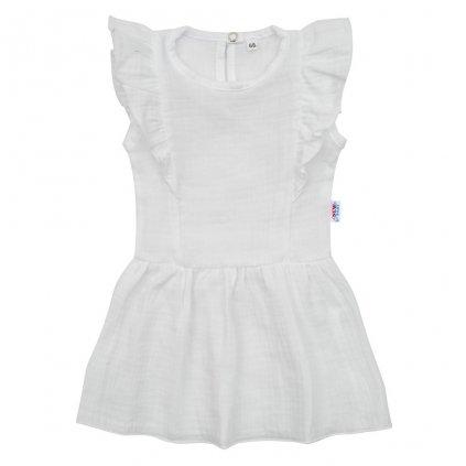 Dojčenské mušelínové šaty New Baby Summer Nature Collection