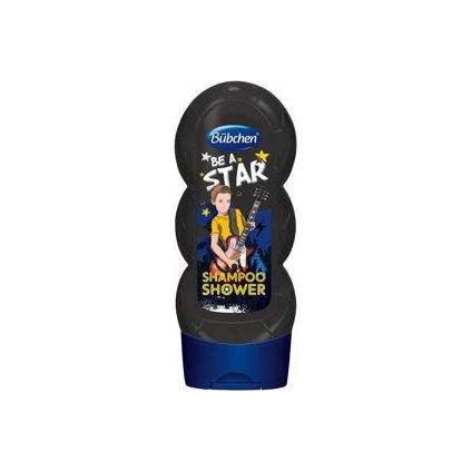 BÜBCHEN Kids šampón a sprchový gél 2v1 - Be a Star, 230 ml