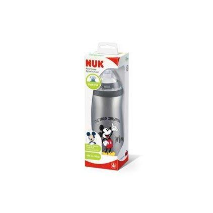 NUK FC Fľaša PP Sports Cup, Disney-Mickey 450 ml, silikón push-pull náustok - šedá